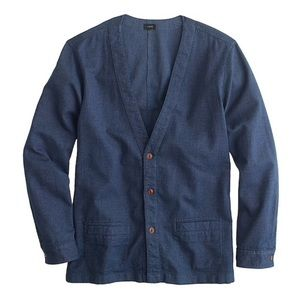 J. Crew Blue Lightweight Colton Cardigan